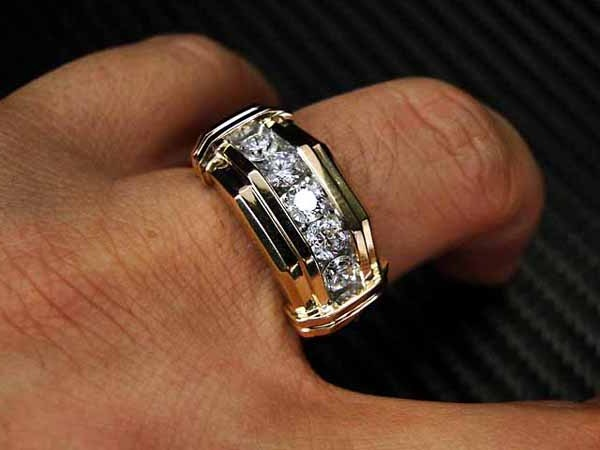 men diamond rings