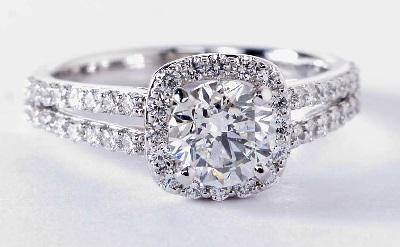 split shank diamond rings